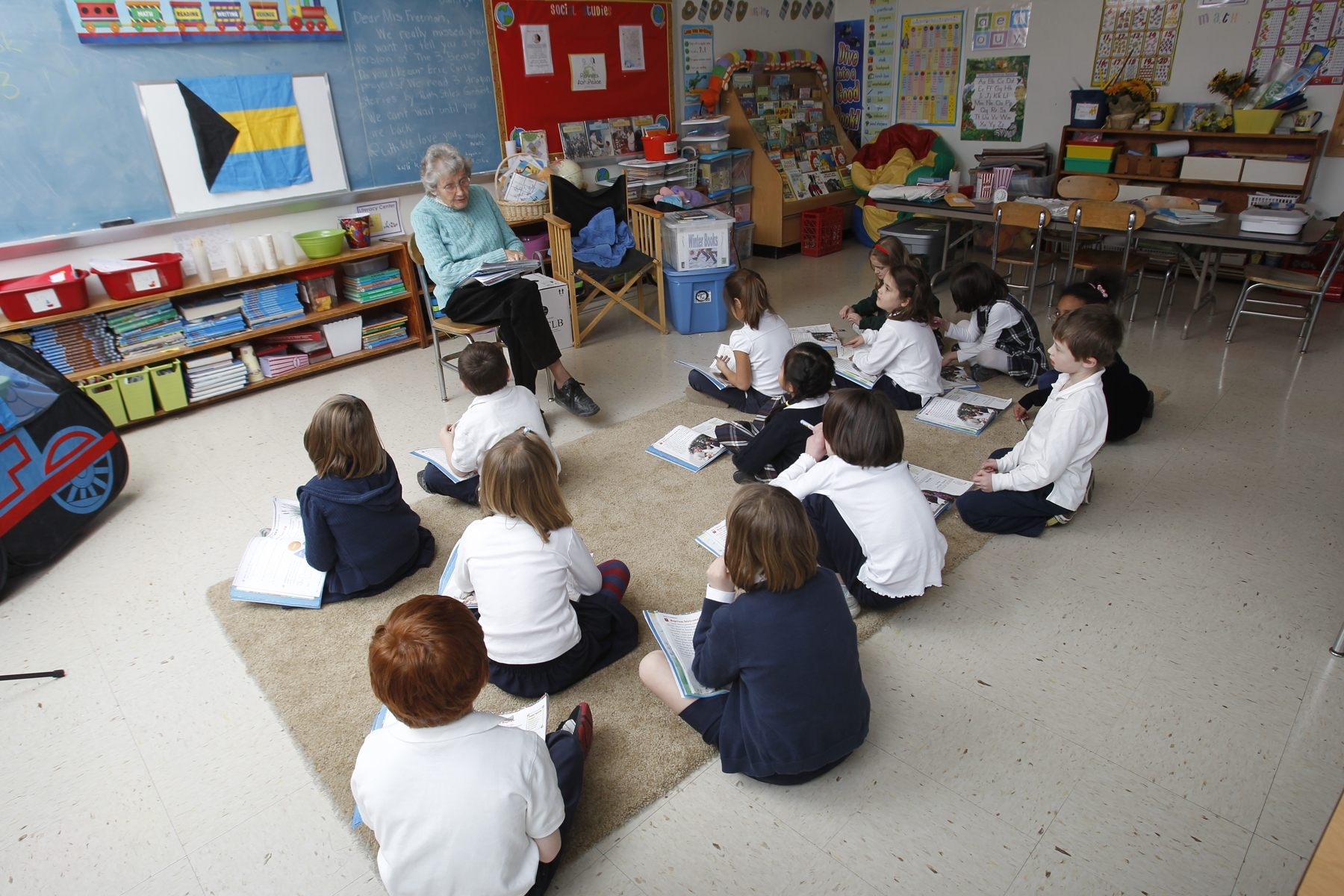 Luella Potter teaching a class at Southern Tier Catholic School.